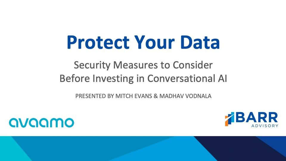 Protect data using conversational AI